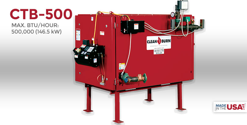 CTB-500, Waste Oil Furnace, Used Oil Furnace, Furnace, Clean Burn, Model CB-200, 500,000 BTU/hr.